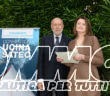 Pietro Rossi con il presidente di Ucina Carla Demaria